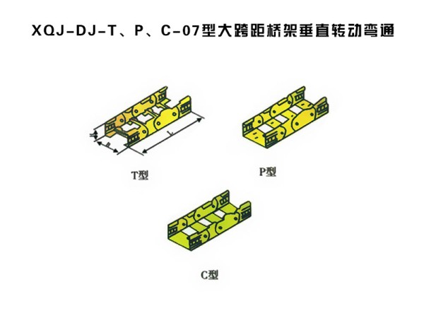 xqj-dj-t、p、c-07型大跨距桥架垂直转动弯通